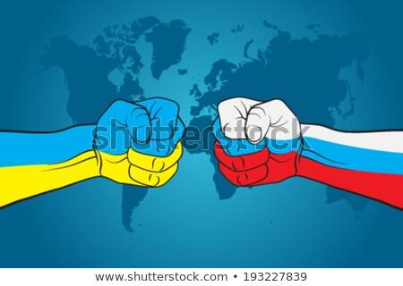 Oekraïne · Rusland · conflict · icon · vector · kaart - stockfoto © bruno1998