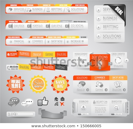 quality clean web elements for blog and sites i stock photo © davidarts