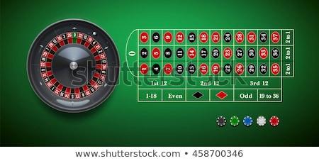 Stock fotó: Hazárdjáték · asztal · rulett · kaszinó · jókedv · piros