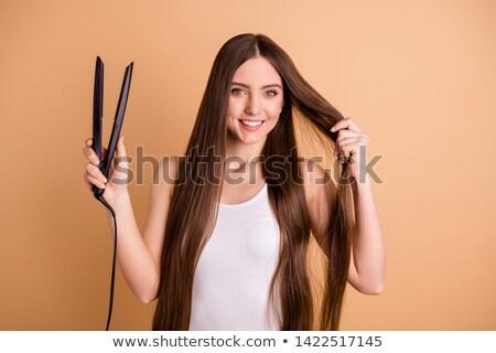 mujer · perfecto · piel · maquillaje · salón · de · belleza - foto stock © gromovataya