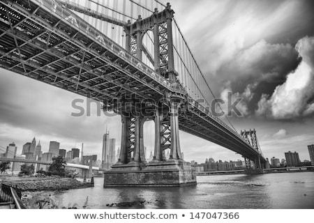 マンハッタン · 橋 · ニューヨーク · ボート · 水 - ストックフォト © iofoto