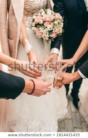 花嫁 ブライダル 友達 ガラス シャンパン ストックフォト © dashapetrenko