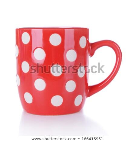 üres pötty egymásra pakolva kék narancs csésze Stock fotó © stevanovicigor