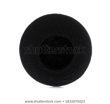 black sponge cap for music microphone  stock photo © feelphotoart