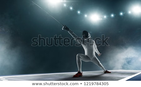 two women fencers on a training stock photo © nejron