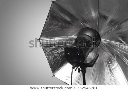 фотографии студию Flash голову зонтик темно Сток-фото © stevanovicigor