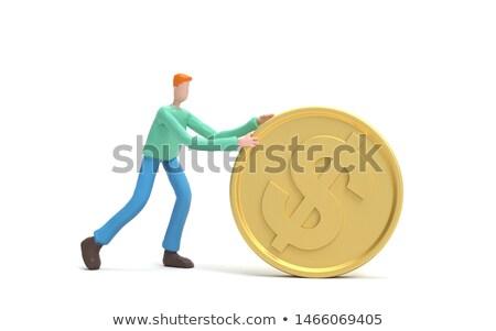 Rolling coins Stock photo © olandsfokus