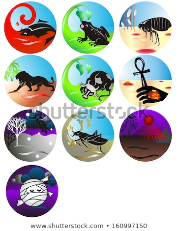 Ten Plagues From Passover Stock photo © LironPeer