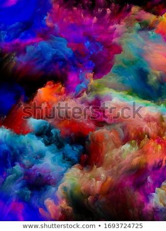 Abstract veelkleurig rook donkere kunst zwarte Stockfoto © nemalo