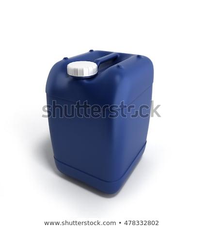 műanyag · gallon · piros · konzerv · izolált · fehér - stock fotó © ozaiachin