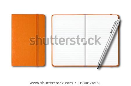 Açmak günlük sayfa beyaz ofis takvim Stok fotoğraf © dezign56