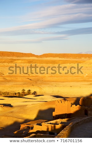 hill africa in morocco the old contruction and histori stock photo © lkpro