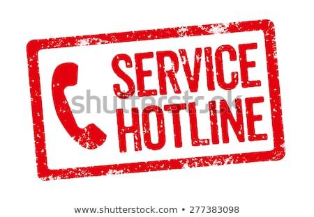 赤 スタンプ サービス ホットライン 電話 フレーム ストックフォト © Zerbor