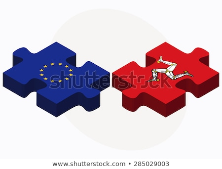 european union and isle of man flags in puzzle stock photo © istanbul2009