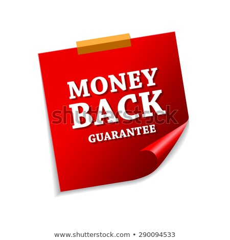 money back guarantee red sticky notes vector icon design stock photo © rizwanali3d