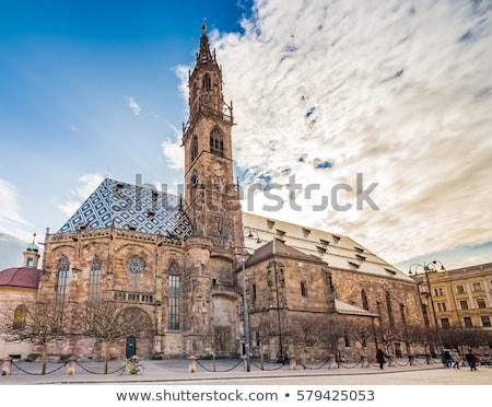 大聖堂 鐘 塔 ゴシック 女性 ストックフォト © aladin66