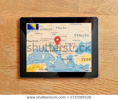Tablet with Bosnia and Herzegovina flag Stock photo © tang90246