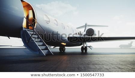 jet · uçuş · düşman · mavi - stok fotoğraf © Niciak