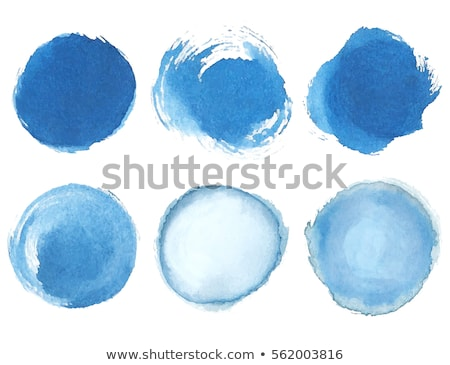 set of watercolor blue circles stock photo © gladiolus