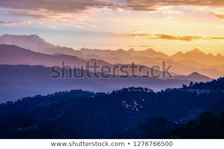 Mountains at dawn, Himalayas, Uttarakhand, India Stock photo © imagedb