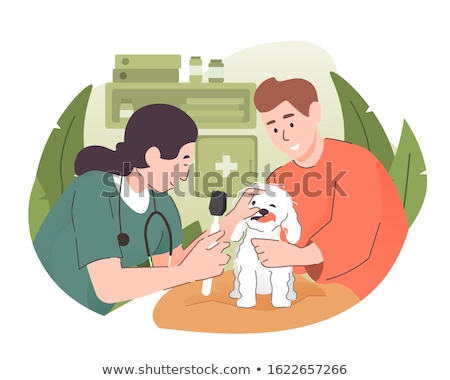állatorvos megvizsgál kutya sztetoszkóp iroda lány Stock fotó © wavebreak_media