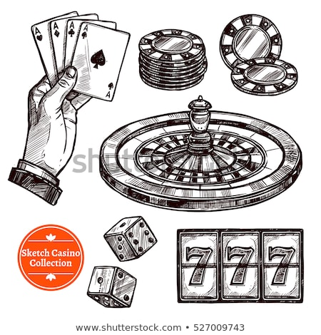 Сток-фото: рисованной · казино · стороны · Тузы · игральных · карт