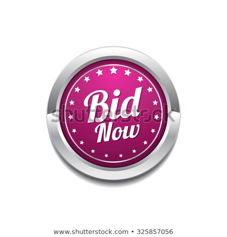 Bid Now Pink Vector Button Icon Stock photo © rizwanali3d