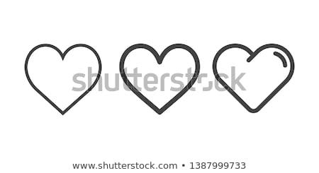 Hart icon roze symbool schaduw Stockfoto © pakete