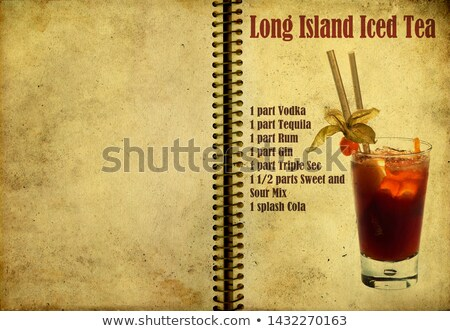 Cocktail Long Island Iced Tea on a notebook page Stock photo © netkov1