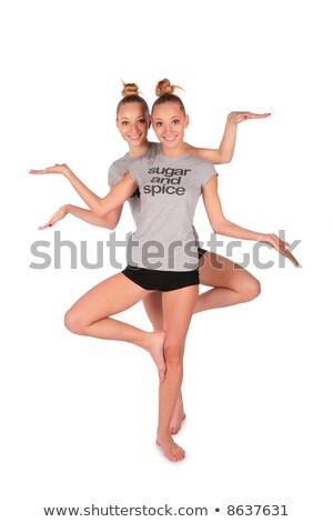 tweeling · sport · meisje · zoals · vrouw · liefde - stockfoto © Paha_L
