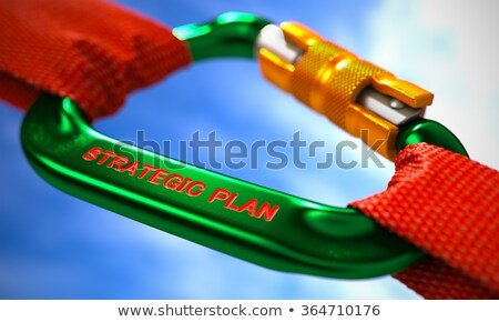 Plan stratégique vert rouge cordes ciel mise au point sélective Photo stock © tashatuvango