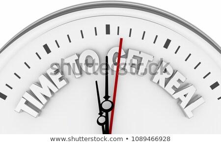 temps · vérité · horloge · blanche · rouge - photo stock © ivelin