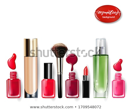 red lipstick and nail polish  Stock photo © OleksandrO