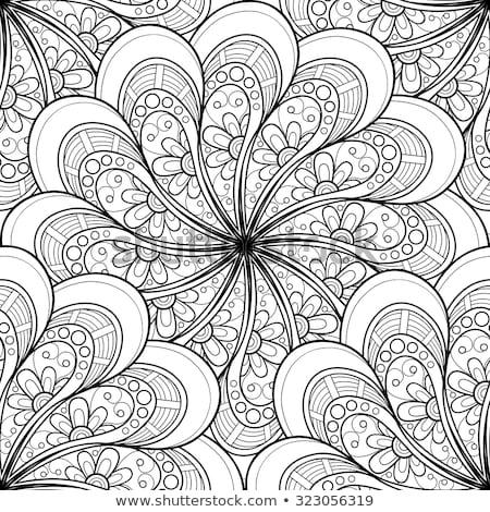 vector seamless monochrome ornate pattern stock photo © lissantee
