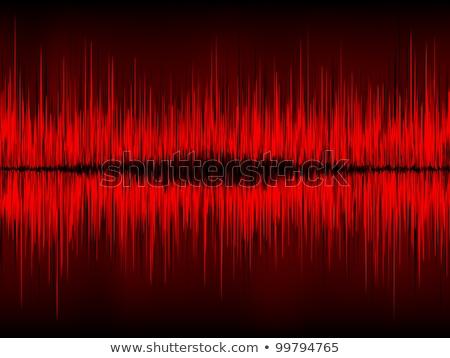 red waveform vector background eps 8 stock photo © beholdereye