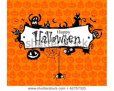 Grunge halloween skelet stijl scratch Stockfoto © kjpargeter