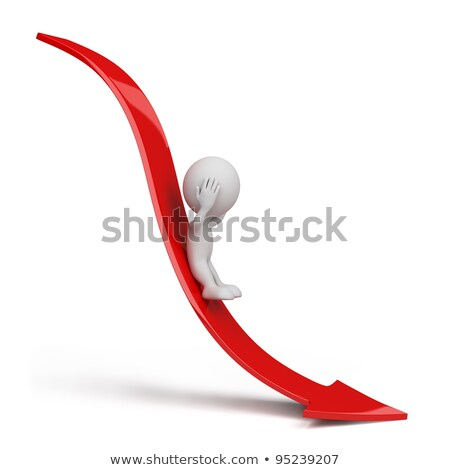 3D Rendering of man with arrow down Stock photo © Kzenon
