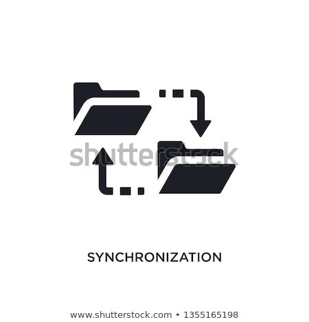Dados transferir ícone projeto móvel dispositivos Foto stock © WaD
