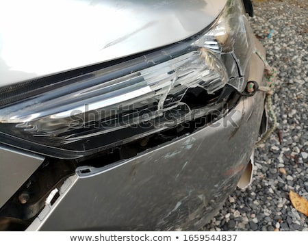 Törött elöl fényszóró fehér autó részlet Stock fotó © Digifoodstock