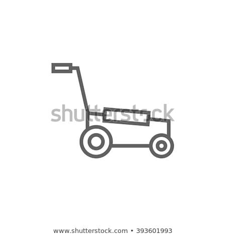 Lawnmover line icon. Stock photo © RAStudio