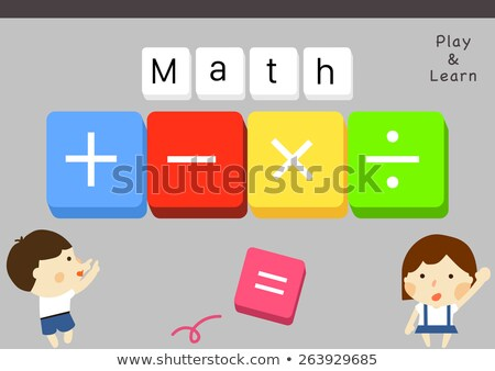 Icons with the subtraction operation sign Stock photo © bluering