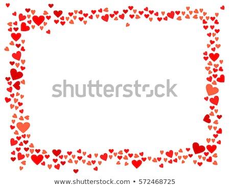 Szívek keret kéz festett víz szín Stock fotó © pakete