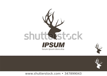 Stock photo: Deer silhouette with target  icon