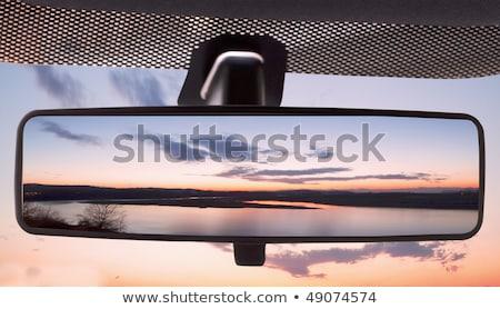 Gün batımı alan araba yol manzara Stok fotoğraf © Koufax73