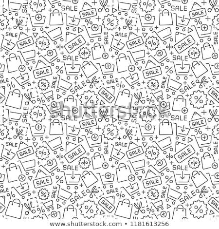 winkelen · lijn · ontwerp · sjabloon · communie - stockfoto © pakete
