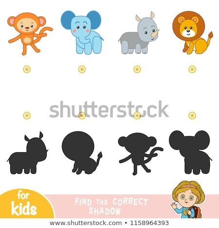 Sombra fósforos desenho animado elefante crianças Foto stock © adrian_n
