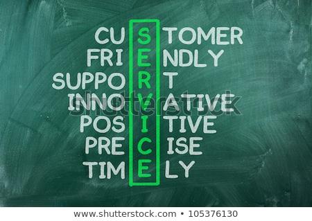 Puzzle with word Customer Stock photo © fuzzbones0