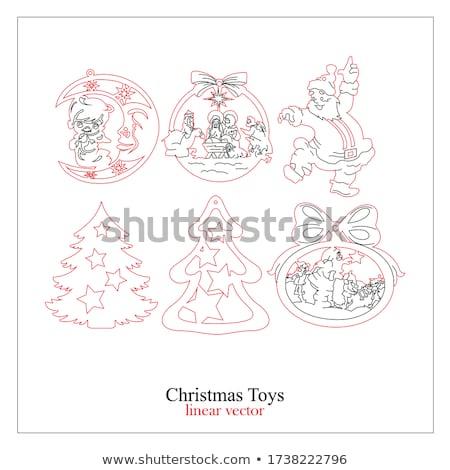 Abstract kerstboom Rood papier gelukkig achtergrond Stockfoto © tuulijumala