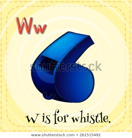 Flashcard letter W is for whistle Stock photo © bluering