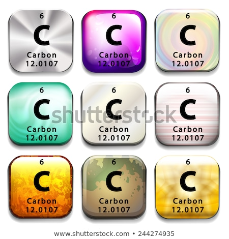 A periodic table showing Carbon Stock photo © bluering